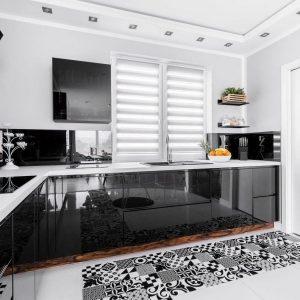 Hoogglans zwart keukendeurtjes