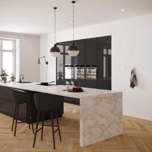 Iron Grey - hoogglans - keukendeurtjes en ladefrontjes i.c.m. Faktum