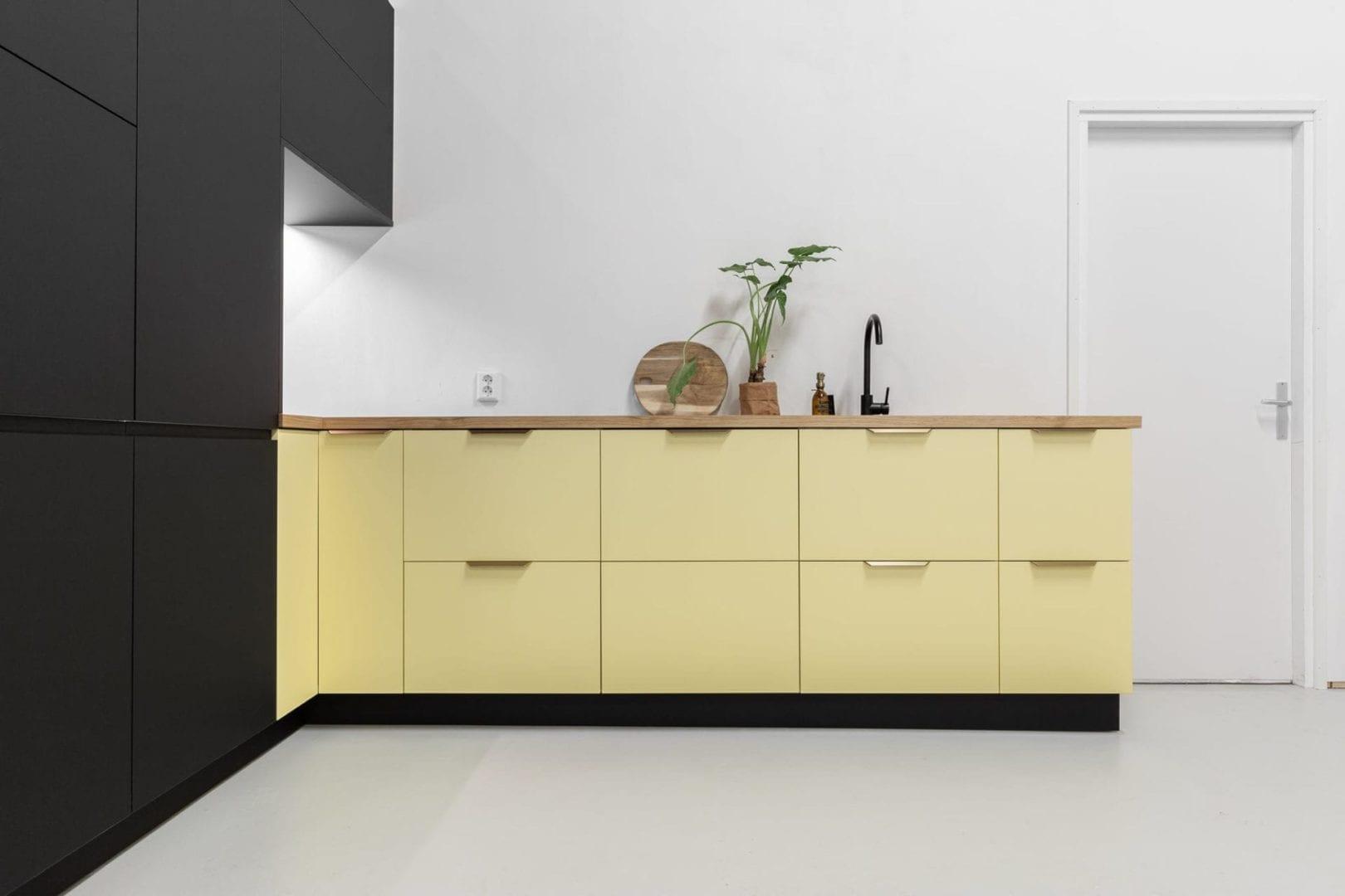 Semi Mat Sunny Yellow Fronten Geschikt Voor Ikea Metod