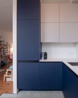 Denim Blue - Arpa Fenix 0754 - Keukendeurtjes en ladefrontjes i.c.m. Faktum